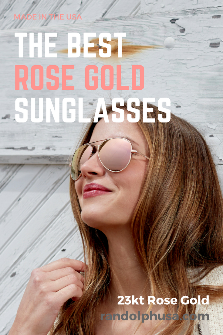 deff11a332 Take a look at these stunning 23kt Rose Gold sunglasses with Rose Gold  Mirrors.  RandolphUSA