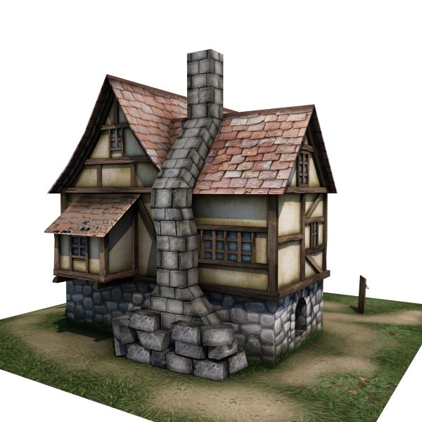 Nice Medieval House 03   Game Ready 3d Model By Gamedev.cgduck.pro