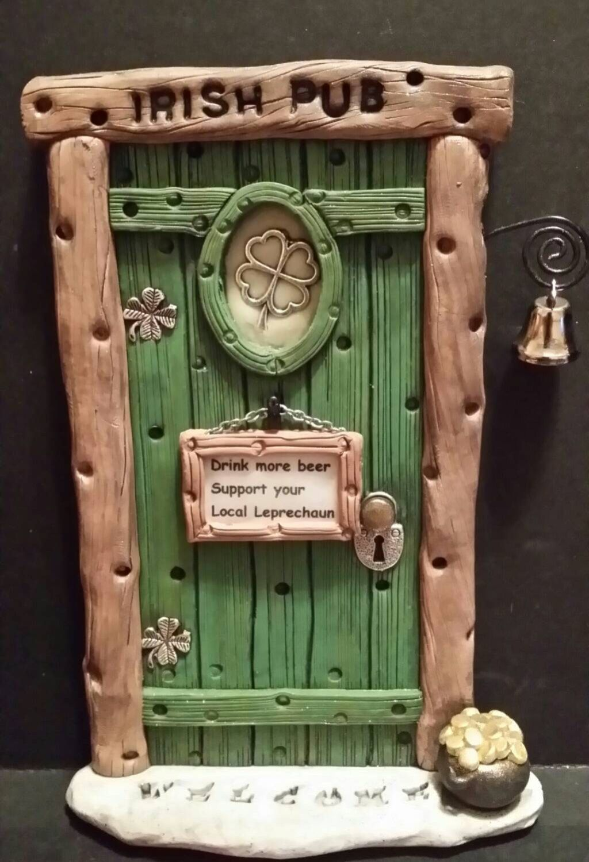 Leprechaun Door Irish personalized  758 by FairyDoorsByTommie on Etsy https://www.etsy.com/listing/218985268/leprechaun-door-irish-personalized-758