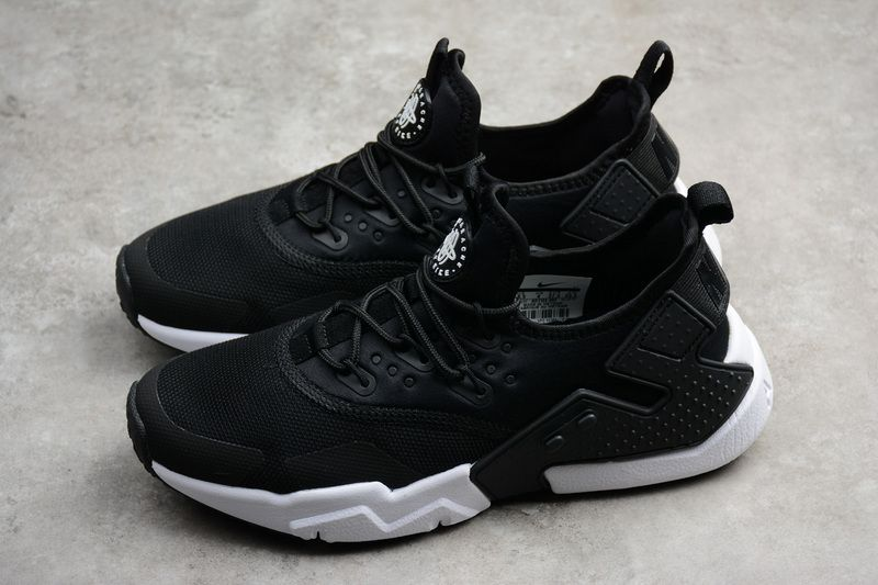 658d372aaf7a 2018 Real Unisex Uk New Nike Air Huarache Drift 6 Black Noir White blanc  AO1133-002 Youth Big Boys Shoes