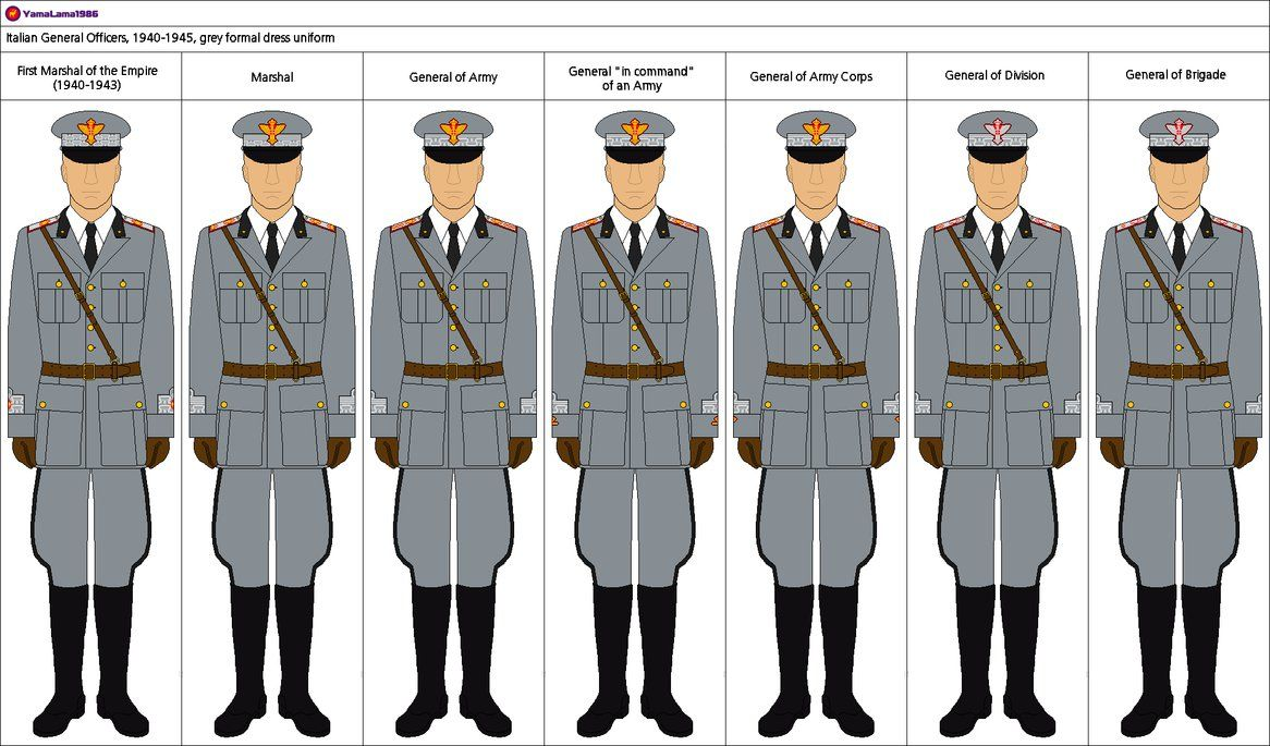 This is a set of the formal dress uniform of the Italian Army during World War II in its standard grey colour. This version includes the Sam Browne belt used along with the leather gloves worn by s...