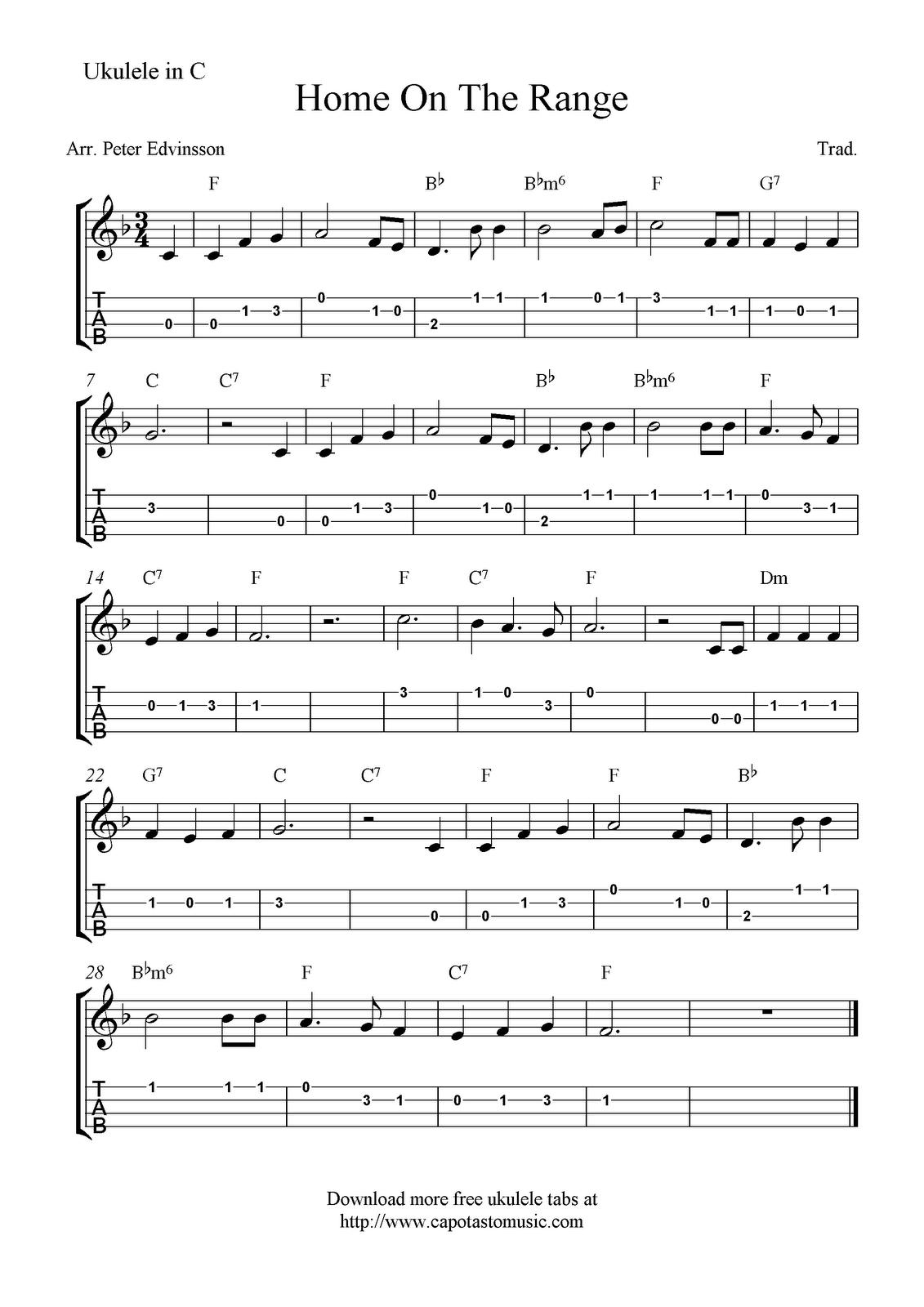 Home on the range ukulele sheet music free printable home on the range ukulele sheet music free printable hexwebz Image collections