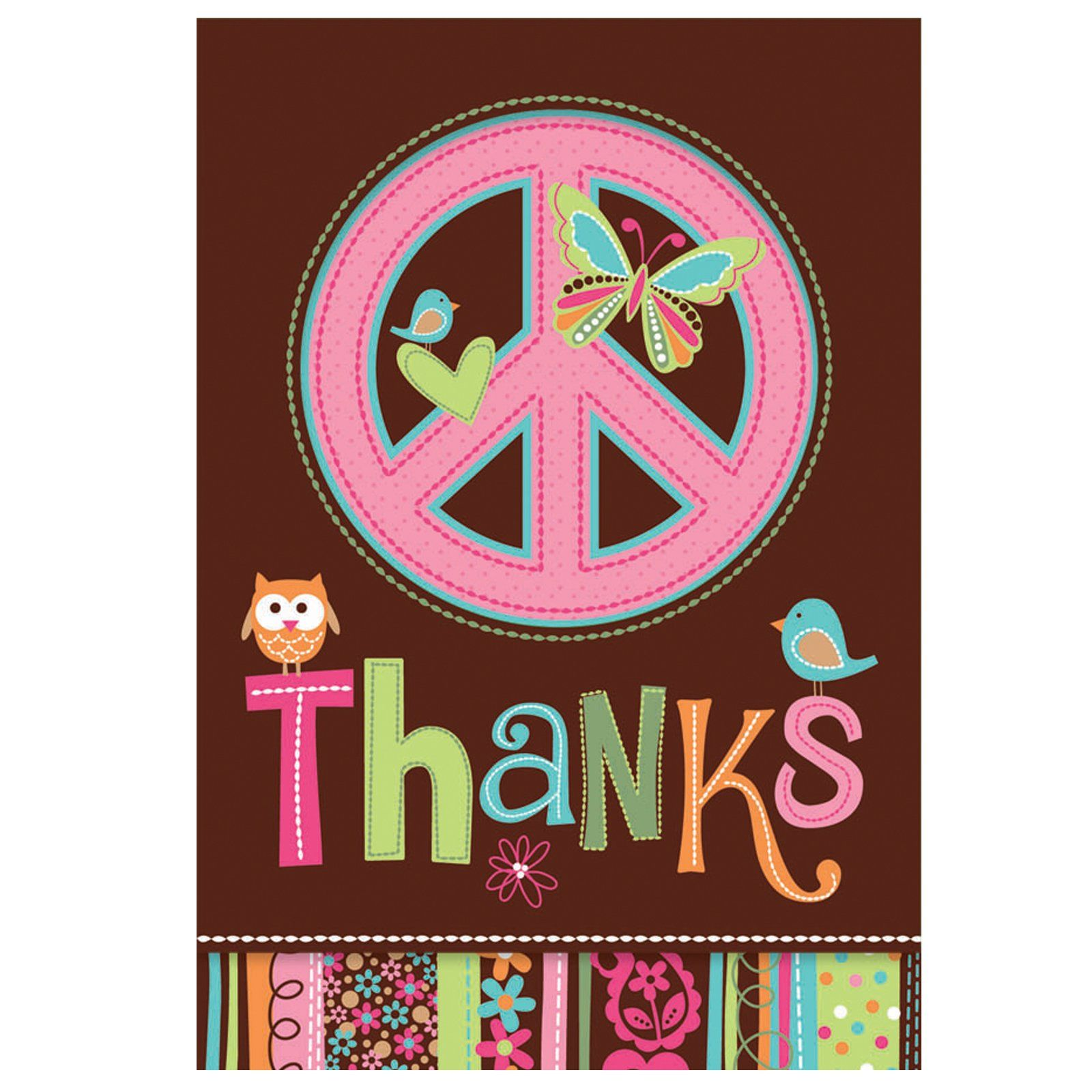 Hippie Chick Birthday Thank You Cards (8 Count) In 2019