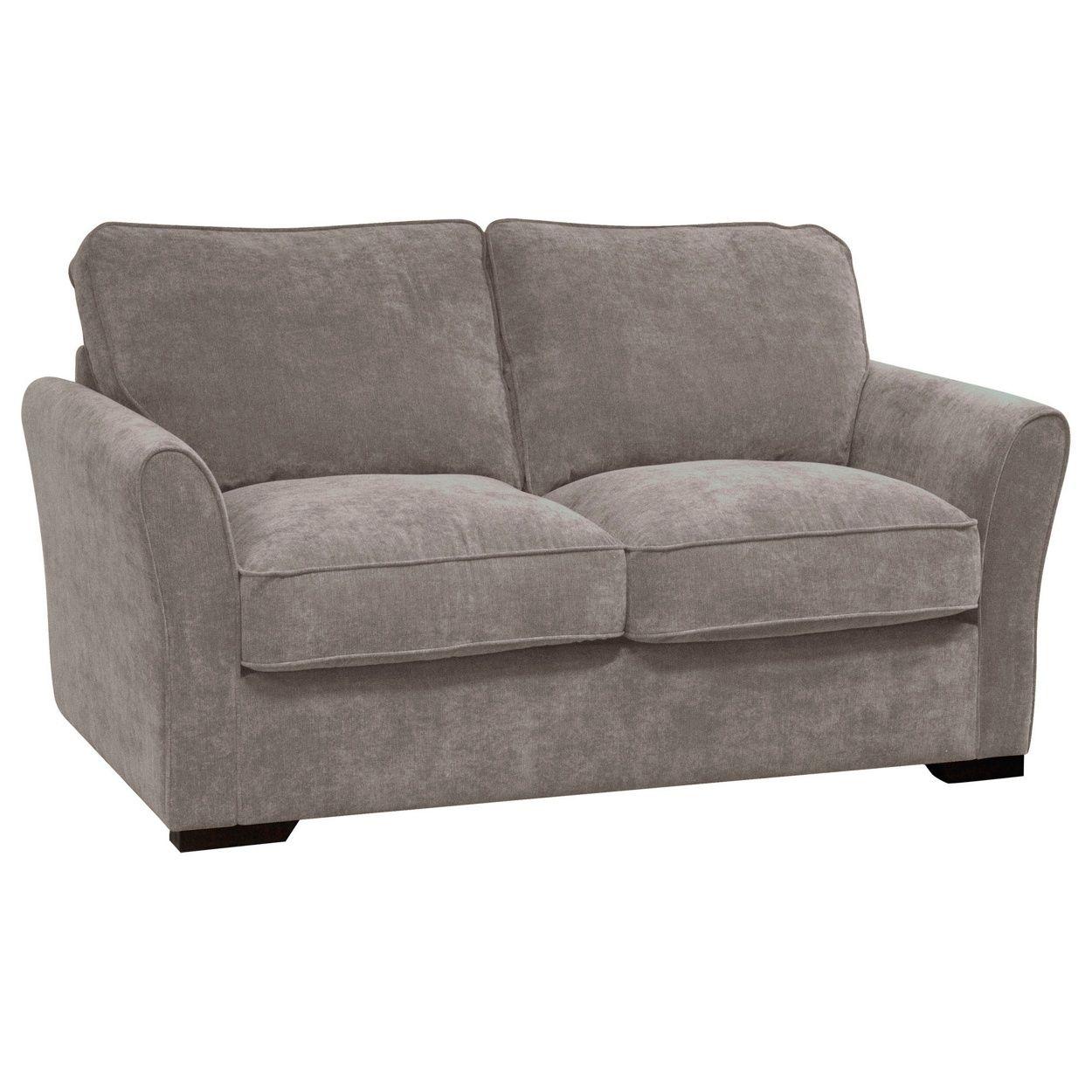 Debenhams Grey Fyfield Sofa Bed With Dark Wood Feet At