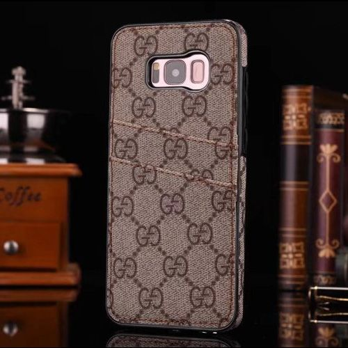 uk availability 27be6 19e1b Luxury Samsung Gucci Galaxy S8 Case With Card Slot Brown | Best ...