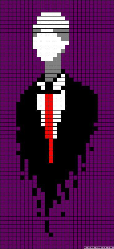 Pixel Slender Man  Pixel    Slender Man Pixel Art