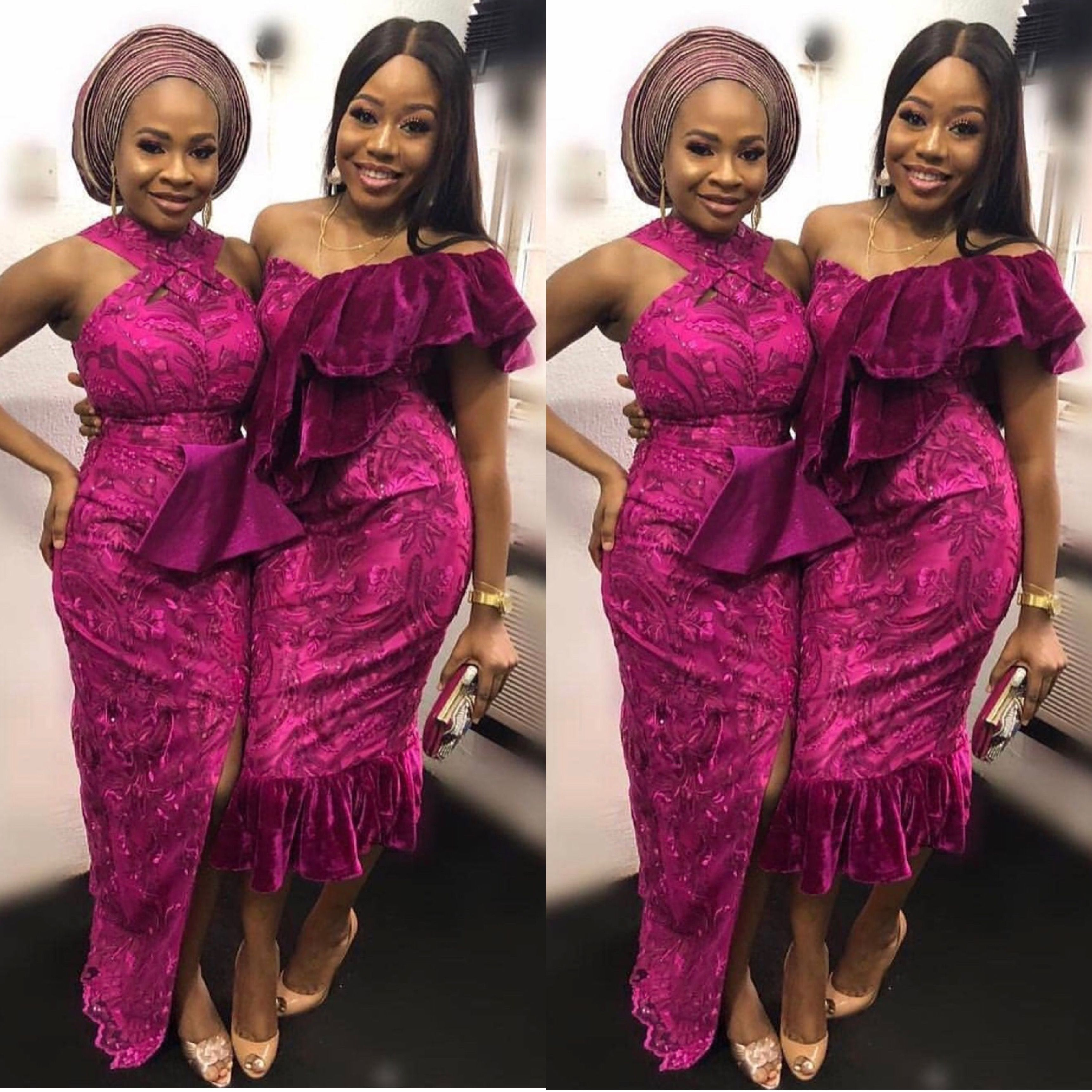 Asoebi Collection Styles African Lace Dresses Lace Dress Styles Nigerian Lace Styles