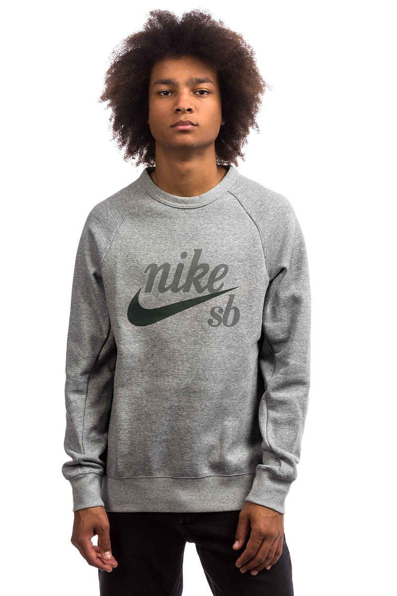 well known look good shoes sale quality design Nike SB Icon Crew GFX Sweatshirt (black white) | Stylistic ...