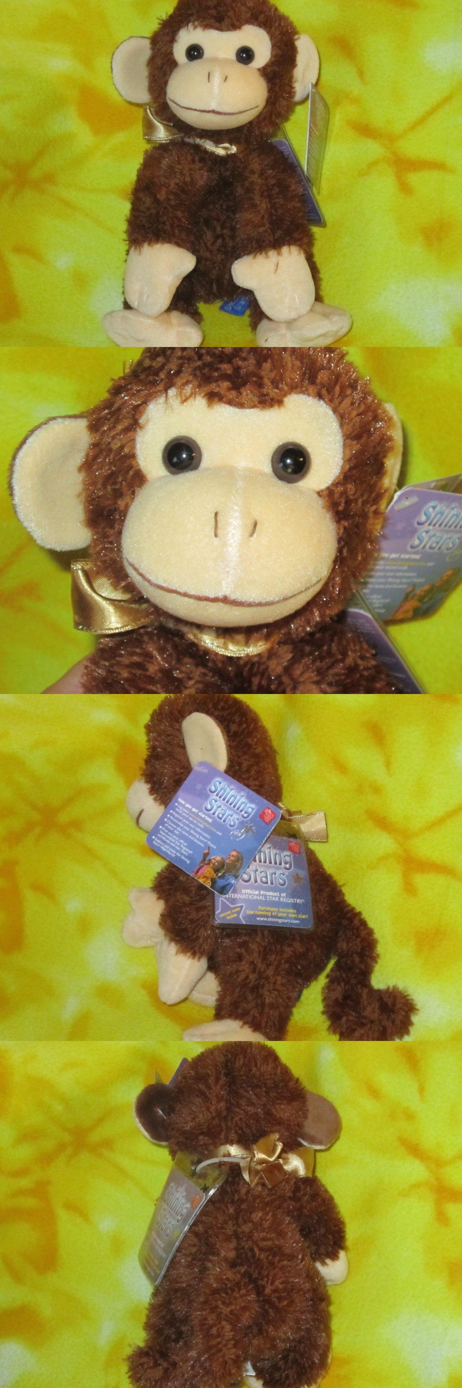 Shining Stars 153012 Russ Berrie Plush Brown Monkey Shining Stars