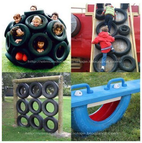tiching juegos infantiles hechos con neumticos reciclados necesitas renovar el patio de