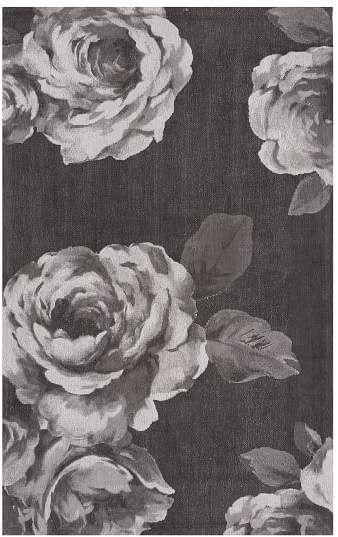 Pottery Barn Teen The Emily & Meritt Rose Rug, 8x10, Black/White