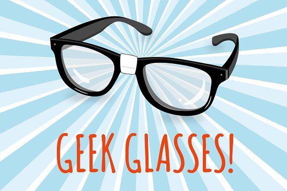 Geek Glasses Illustration by Gemma Evans on @creativemarket