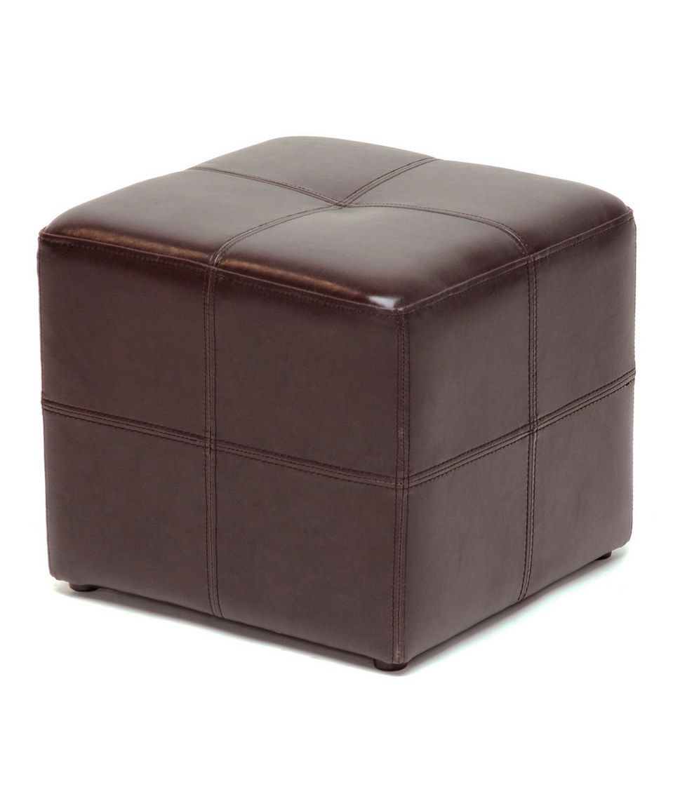 Incredible Love This Dark Brown Vernaccia Leather Ottoman By Baxton Ncnpc Chair Design For Home Ncnpcorg