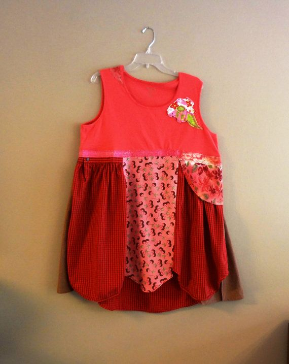 Summer Dress  Plus Size 2X  Upcycled/Altered/ Fun/  by upCdooZ, $46.00