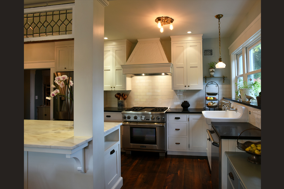 George Clemens Architecture Village Victorian Chagrin Falls Oh White Shaker Cabinets Chagrin Falls Dream Kitchen