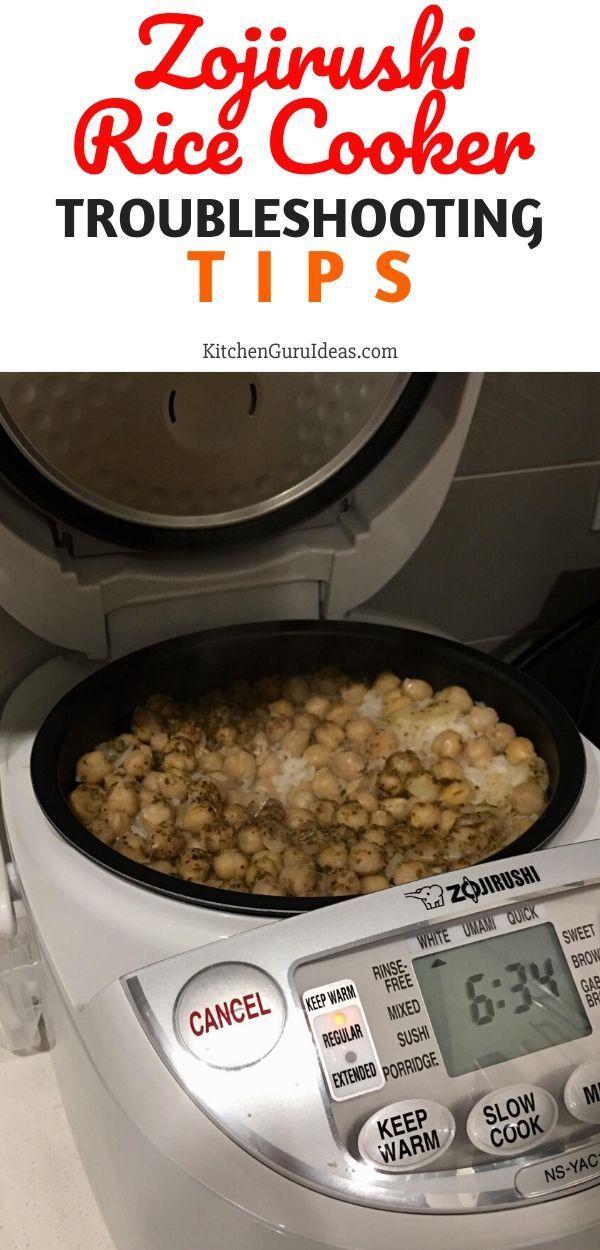 Zojirushi Rice Cooker Troubleshooting Tips