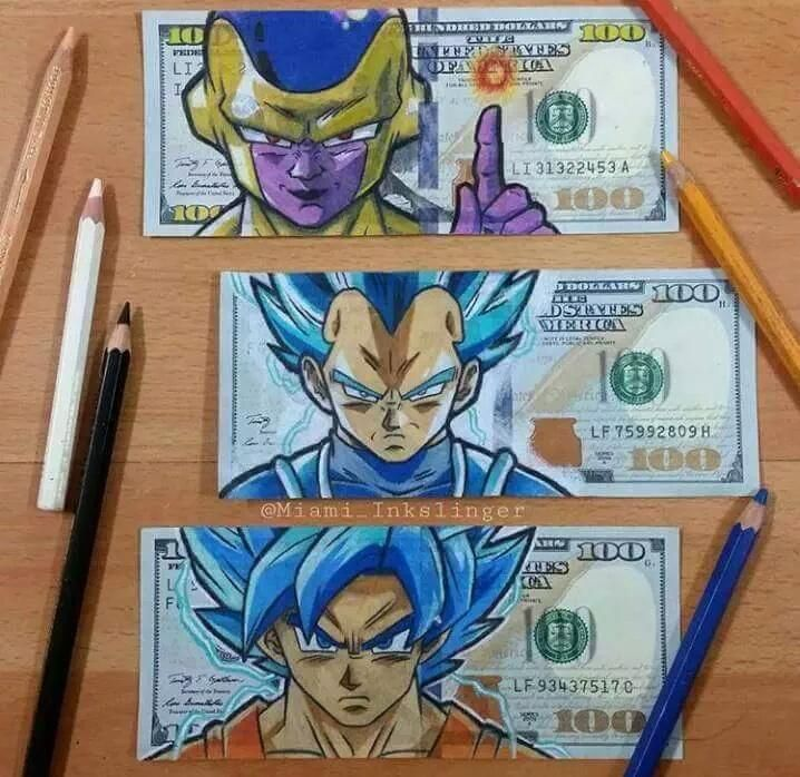 Gohan REAL Money! Dragon Ball Z SUPER SAIYAN {color} Dollar Bill