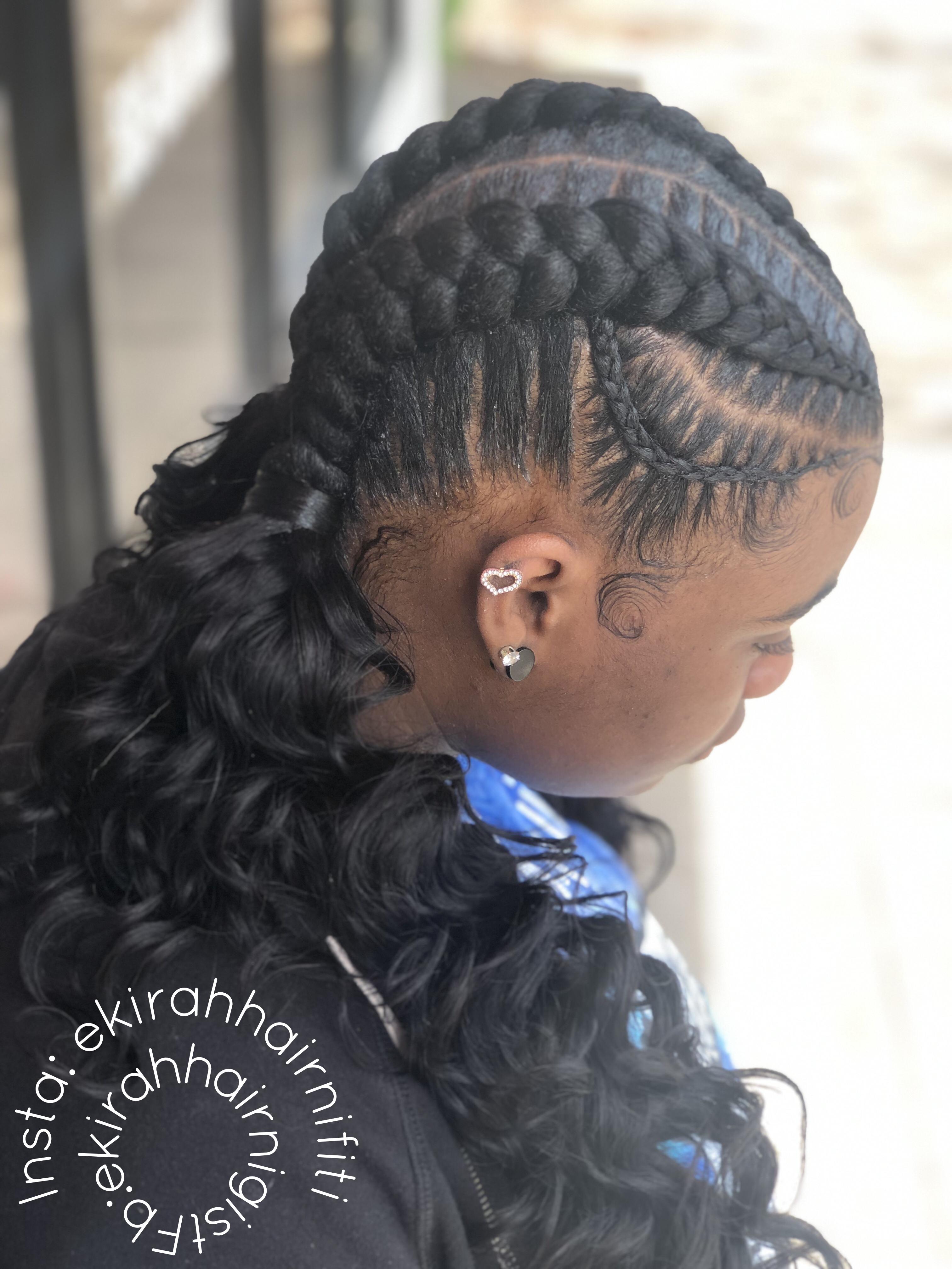 2 Feed In Braids W Extended Pony Facebook Eikria Rasheem Hairnigist Insta Eki Rahhairnifiti Hair Styles Braided Hairstyles Dutch Braids Black Hair