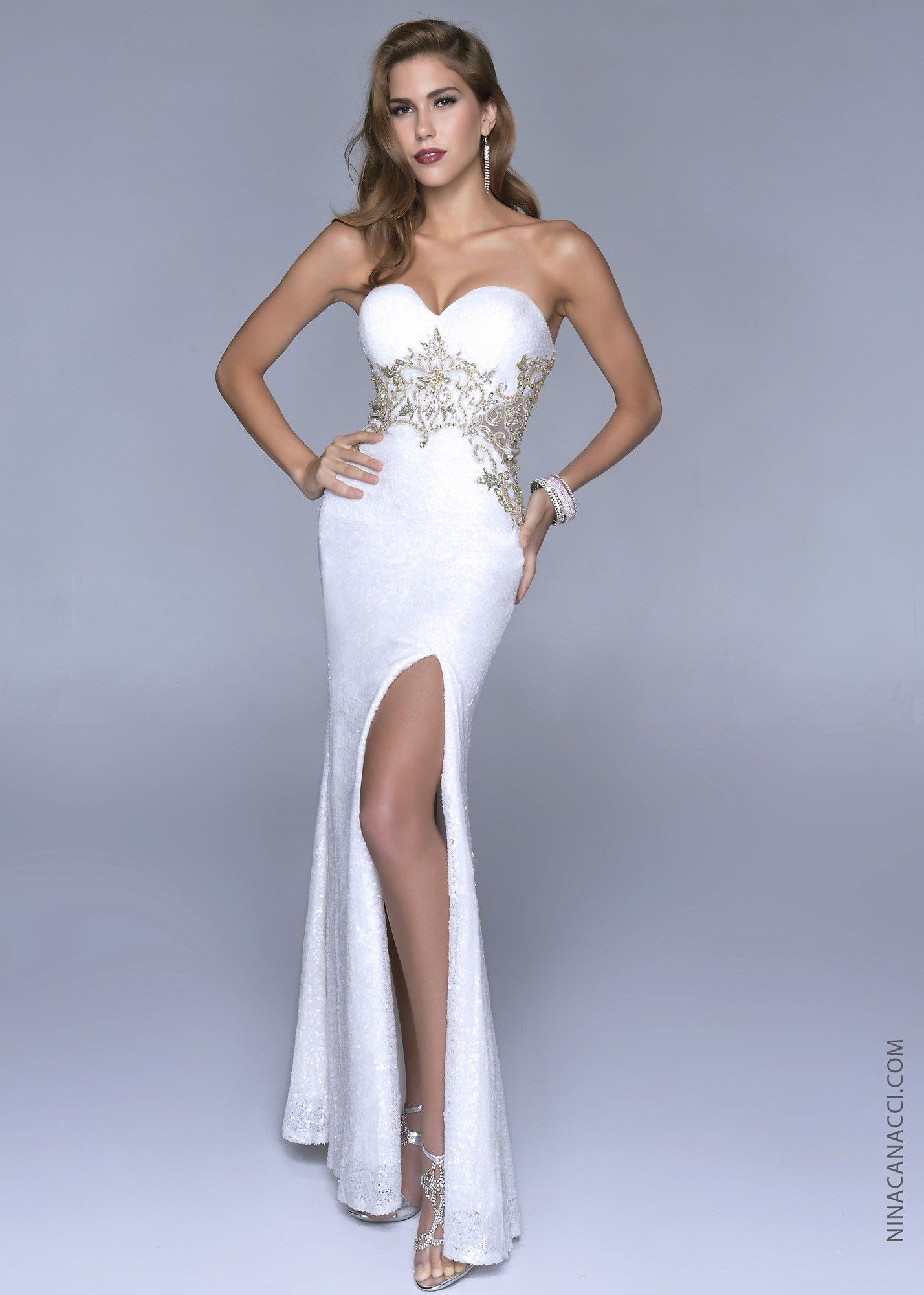 Nina canacci sweetheart strapless dress prom collection