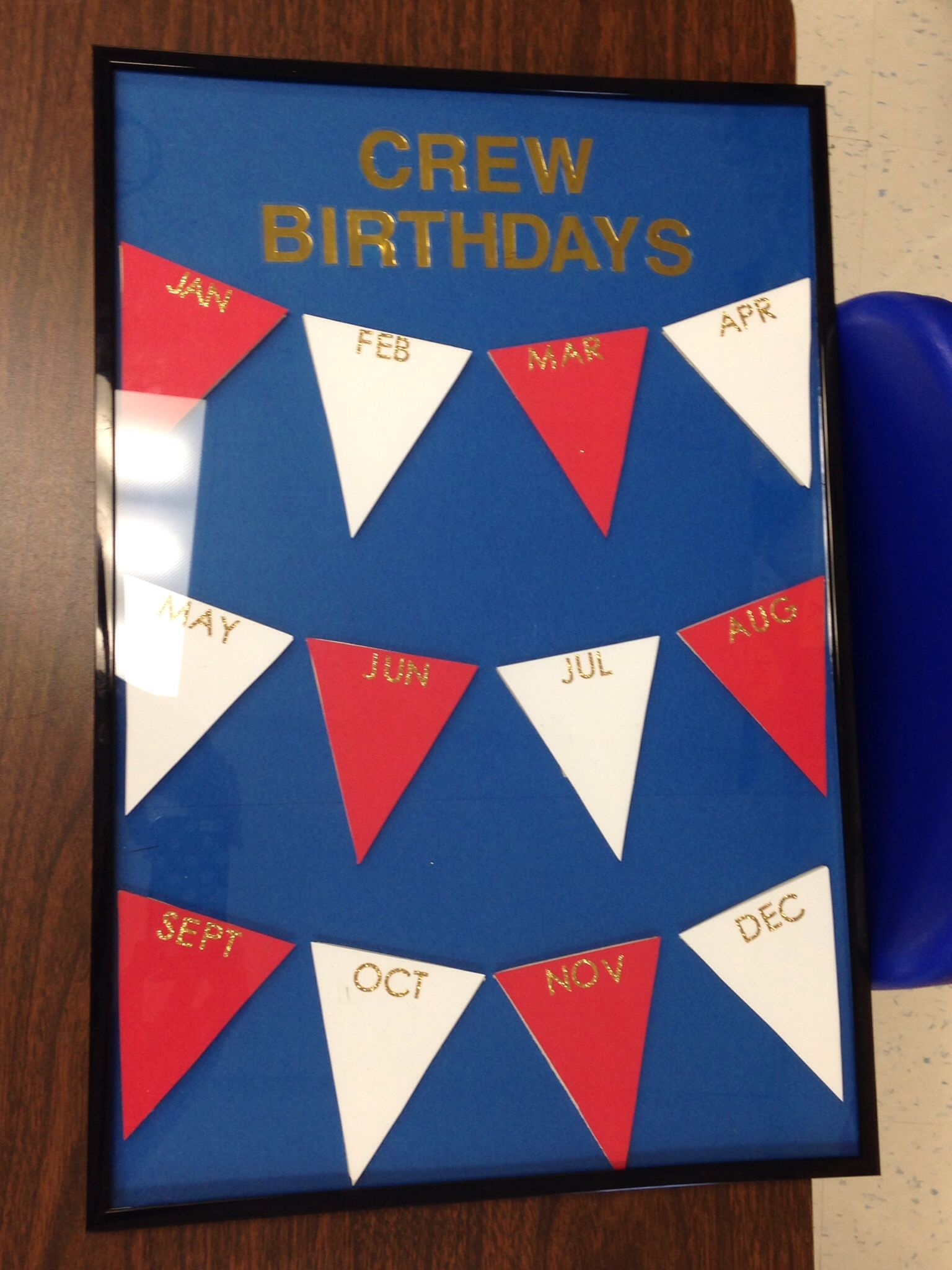 Made This For My Class Birthday Chart Nautical Decor Classroom Write On The Glass Frame With
