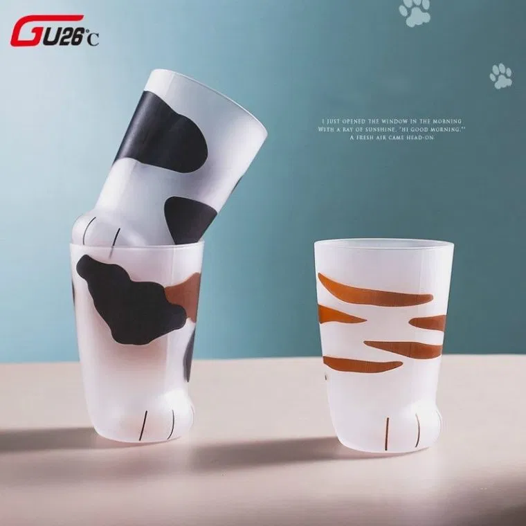 Cute Paws Glass Cup Cat paws, Mugs, Cup gifts