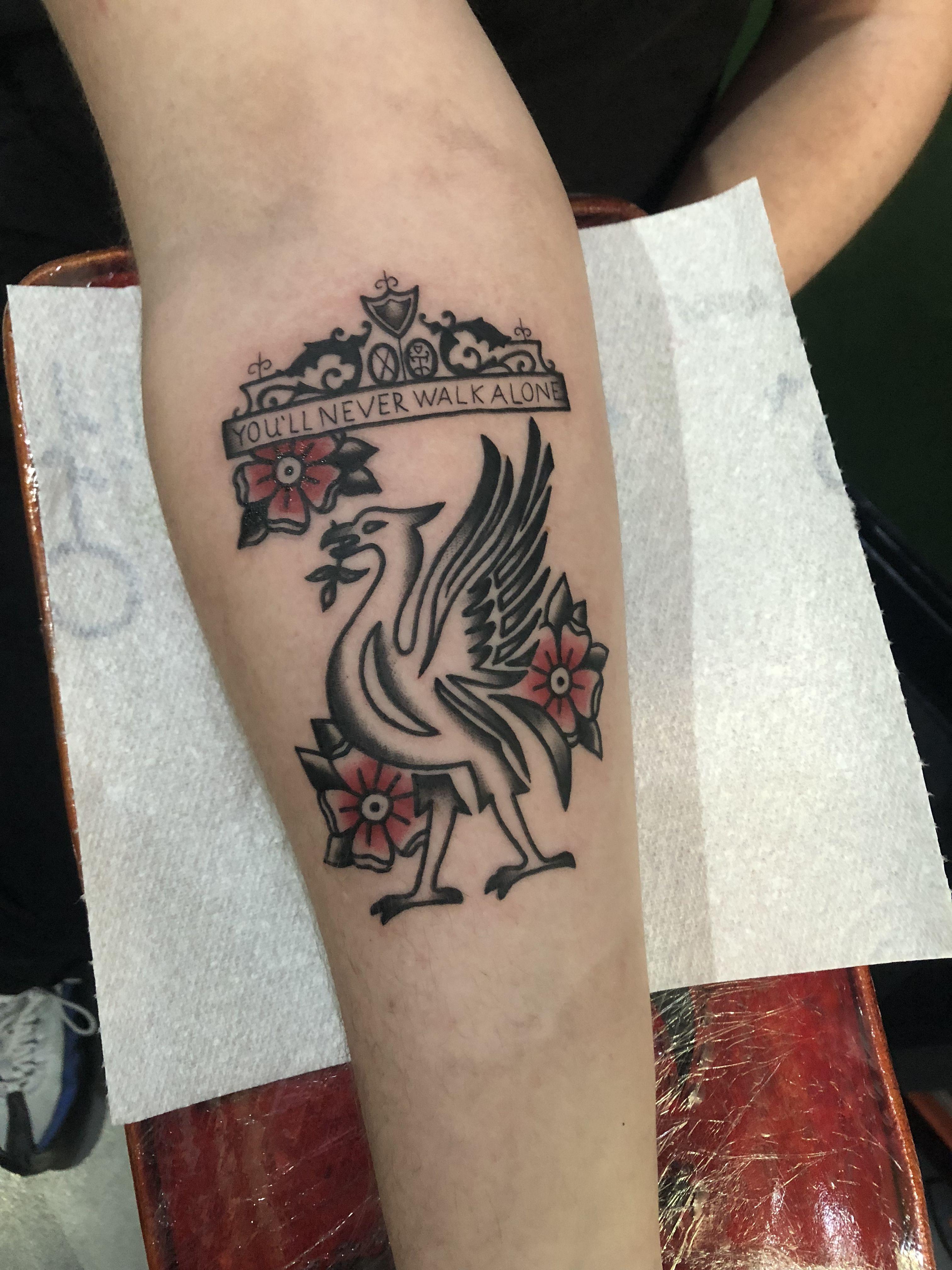 Liver Bird Tattoo Lfc Tattoo Liverbird Tattoo Liverpool Tattoo