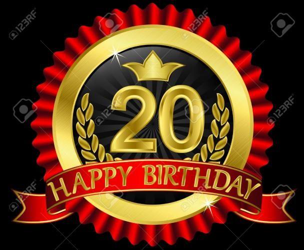 Happy Birthday 20 Year Old