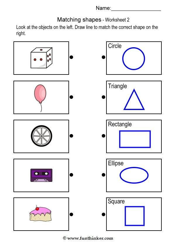 Printable Shapes For Kindergarten Scalien – Worksheet on Shapes for Kindergarten