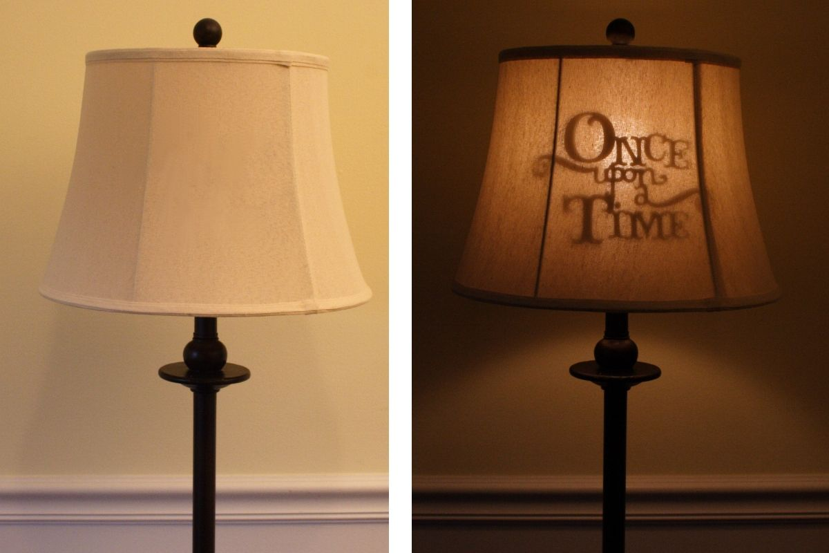 This lamp shade with a hidden message that shows up when lit is this lamp shade with a hidden message that shows up when lit is fun aloadofball Image collections