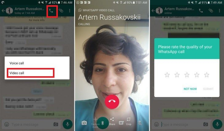 How to video call on whatsapp web pc