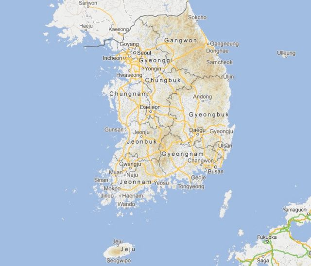 Osan South Korea Map.Map Of South Korea My Husband Was Stationed In Osan And Visited