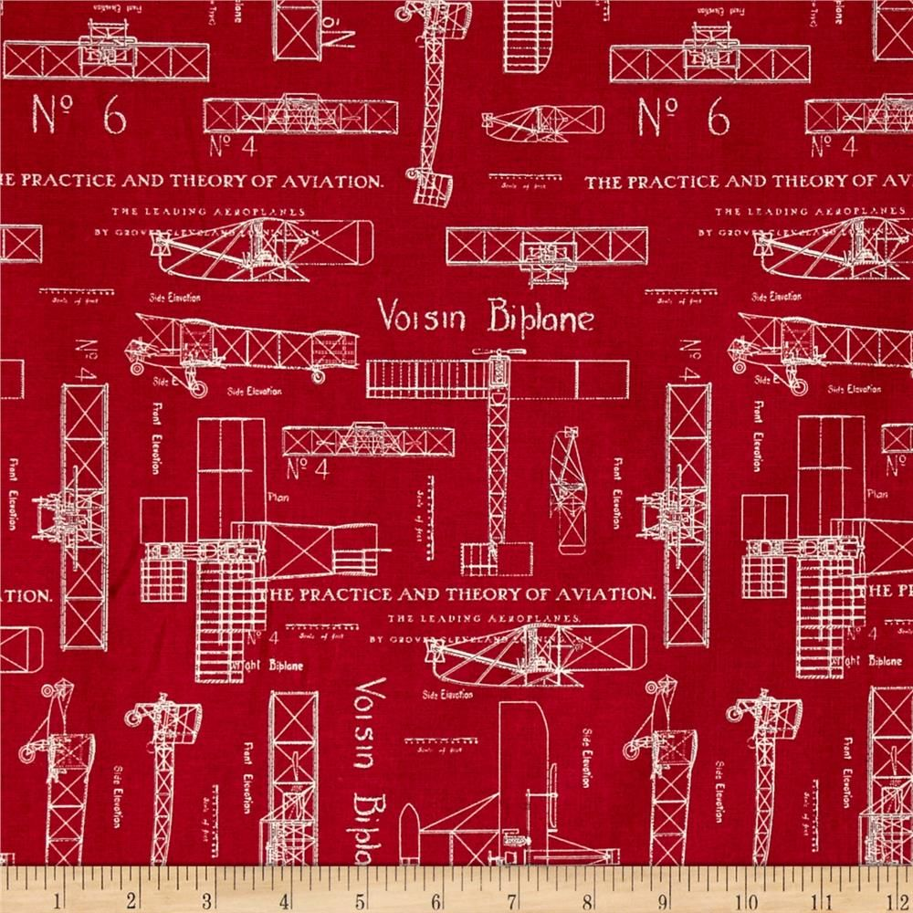 Theory of aviation blueprint red accent colors whistler and aviation theory of aviation blueprint red from fabricdotcom designed by whistler studios for windham fabrics this cotton print fabric is perfect for quilting malvernweather Images