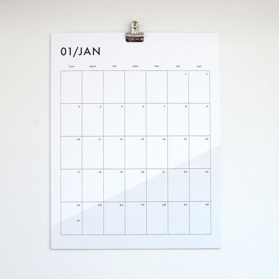 Hanging Calendar Design : Wall calendar basic home pinterest calendrier