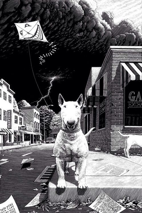 Patrick Arrasmith Land Of Laughs Bull Terriers English Bull - Bull terrier art