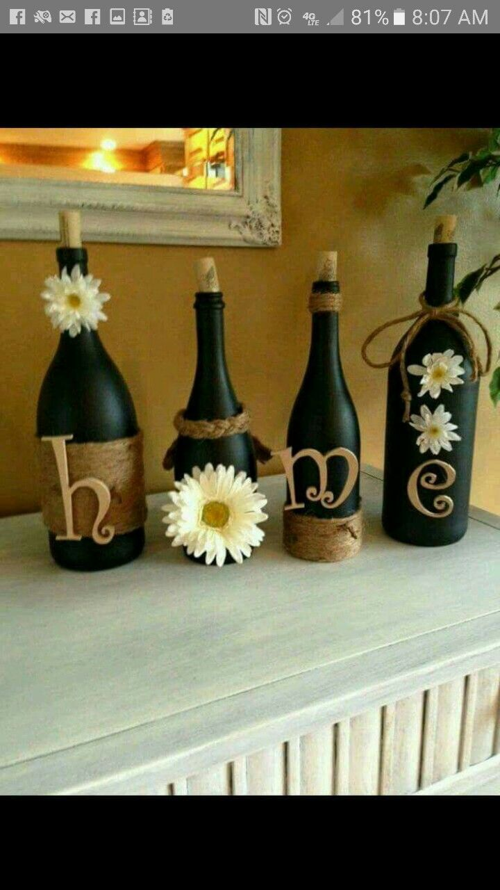 Pin by bonnie dodson on country crafts pinterest jar art wine bottle crafts country crafts diys diy ideas diy crafts bricolage do it yourself craft ideas diy home crafts solutioingenieria Images