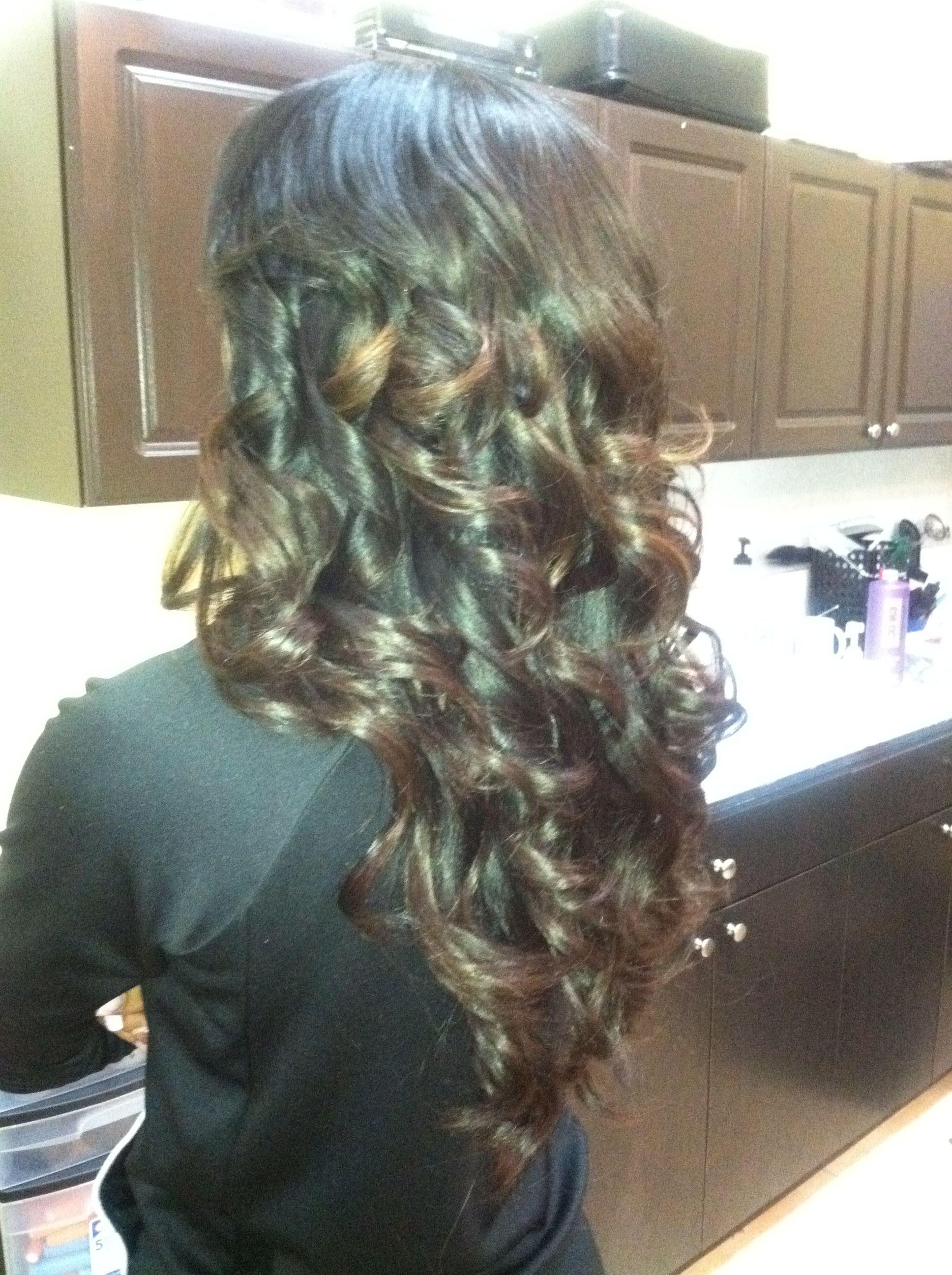 Full head weave w soft ombre hairstyles pinterest full head