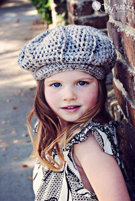 New Girls Kids Children Warm Winter Bow Acrylic Hat Cap Beanie 5-8 Years