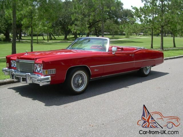 1974 CADILLAC ELDORADO CONVERTIBLE WIRE WHEELS VOGUE TIRES
