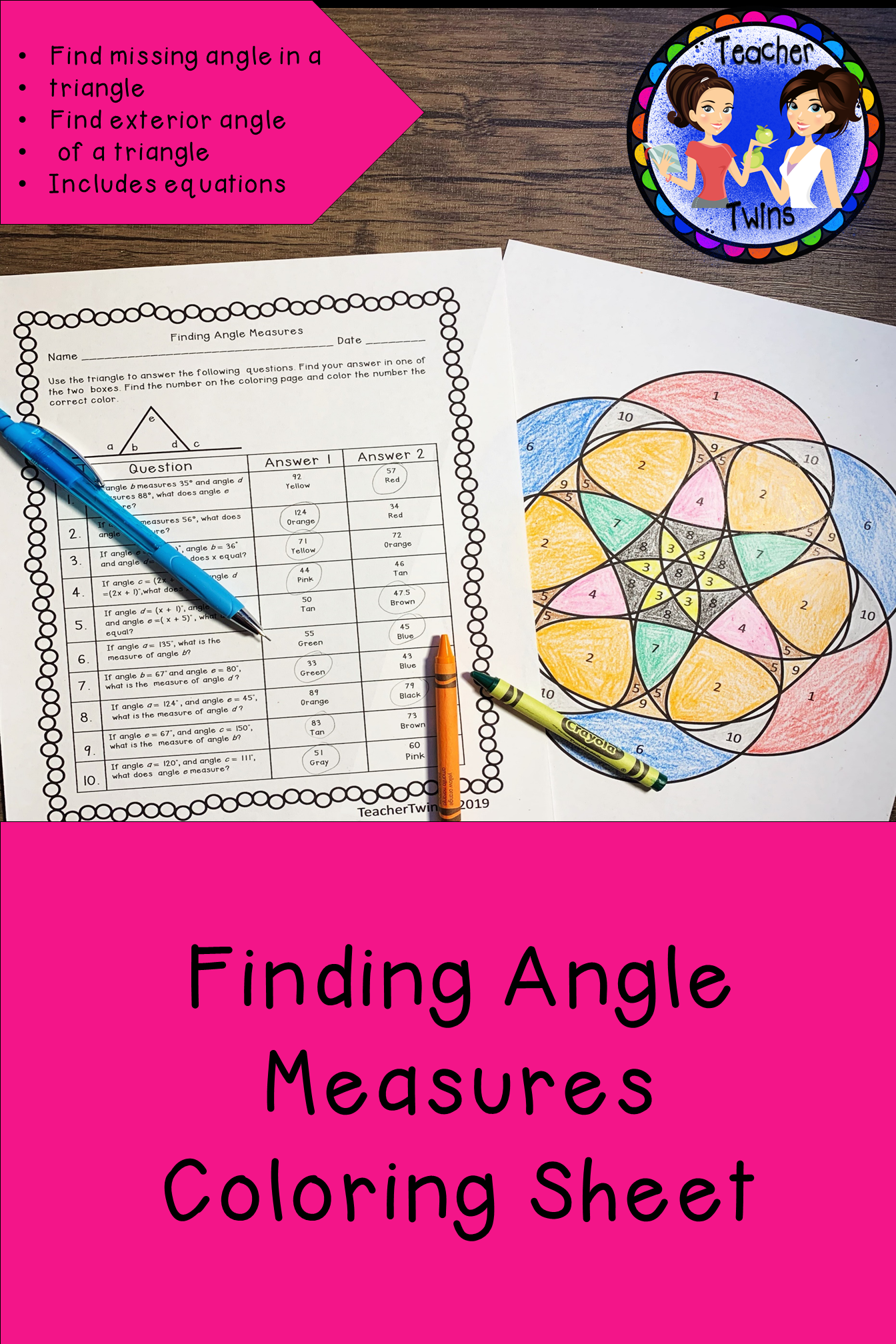 Finding Angle Measures Ccs 8 G A 5