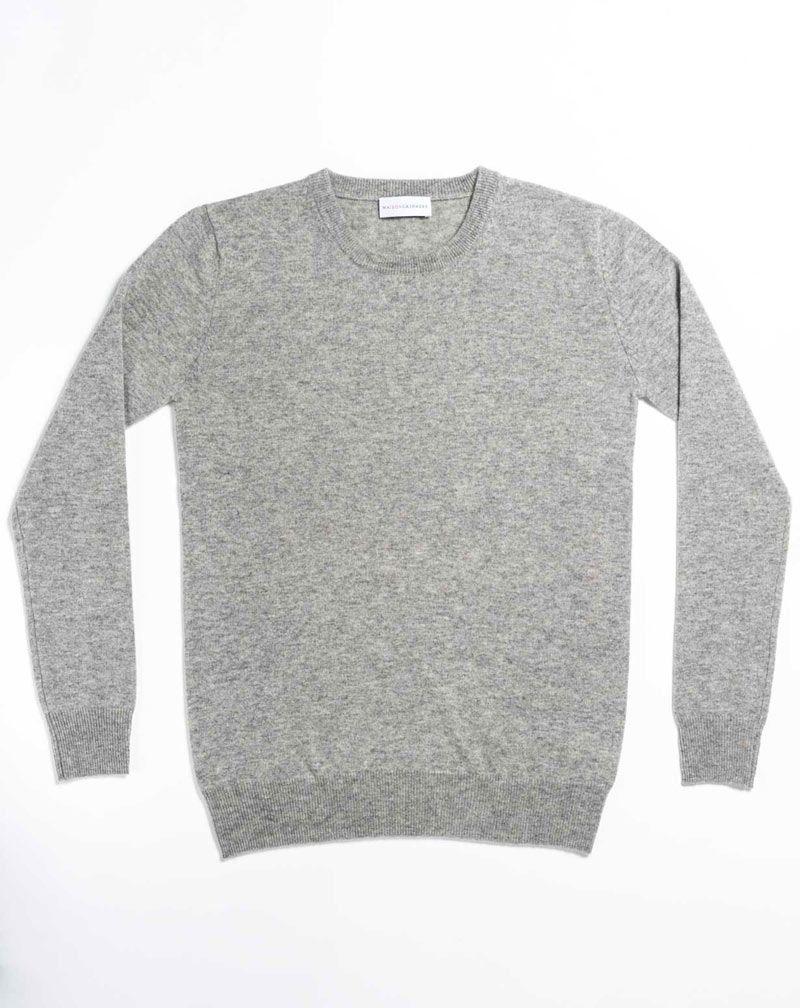 Women s Pure Cashmere Boyfriend Sweater. Maglia Donna Girocollo in  cachemire  0cd438337e2
