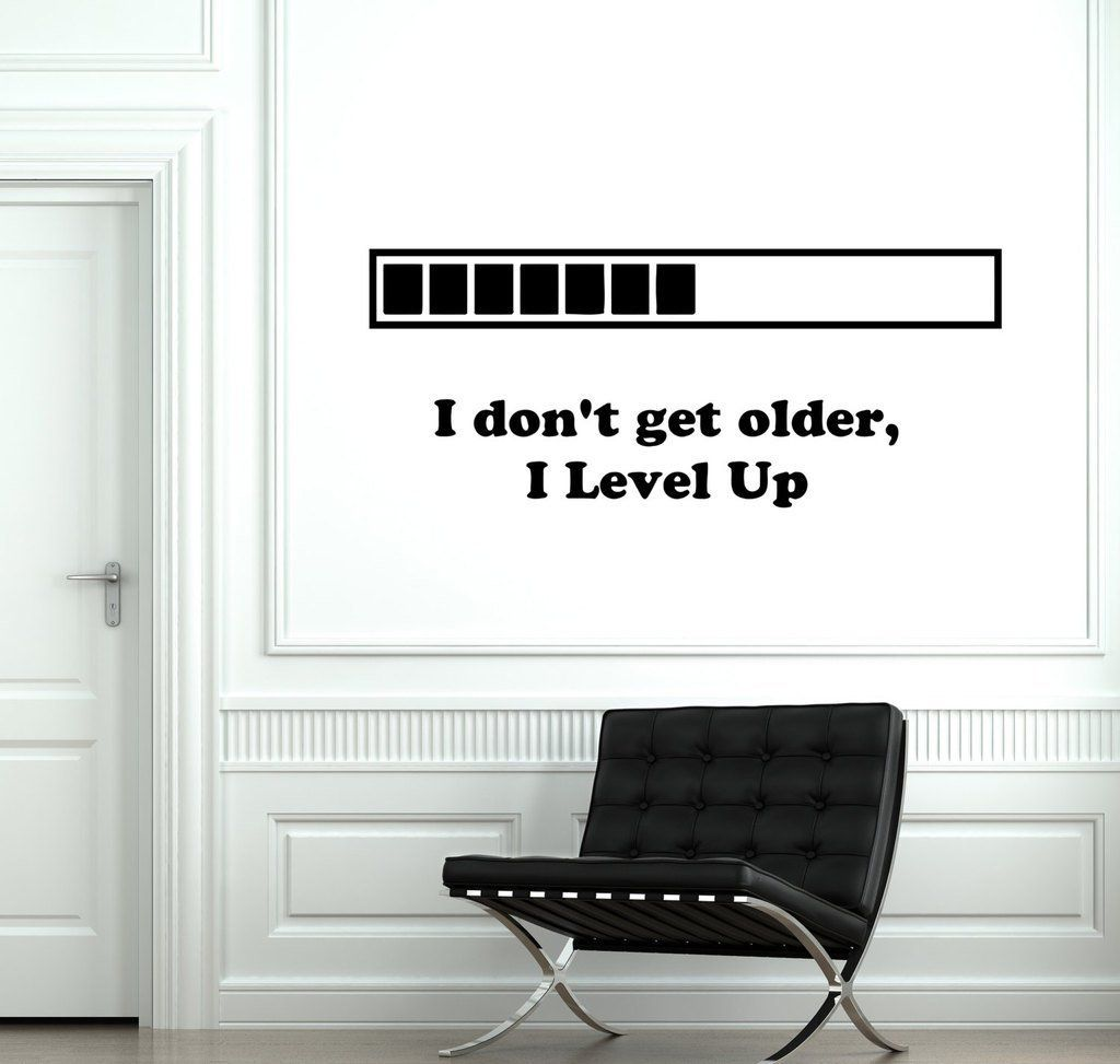 Loading Gamer Gaming Level Up Wall Vinyl Decal Fashion Home Living ...