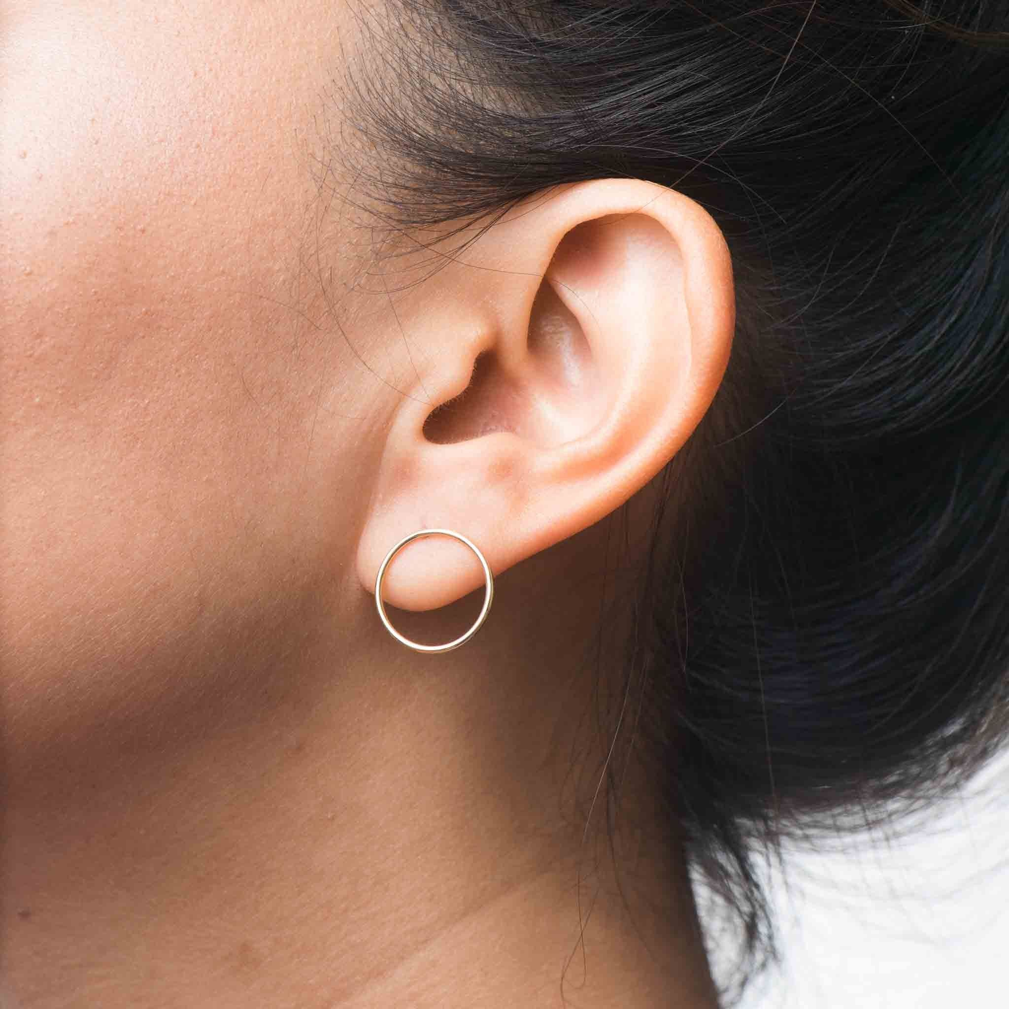 Best nose piercing jewelry  k solid gold eclipse earrings  crafty  Pinterest  Solid gold