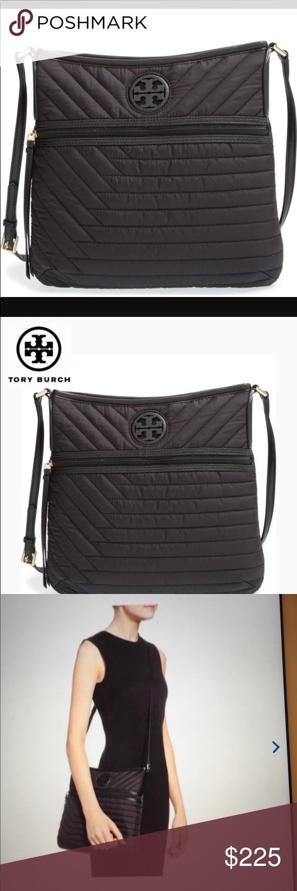 875dcd30d6a 🆕Tory Burch Quilted Nylon Swingpack in Black. NWT Lightweight and  adorable....this Tory Burch crossbody bag will become your favorite go-to  bag.