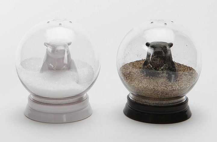 5 Amusing Snow Globes That Will Make You Look Twice Stuffed Peppers Salt And Pepper Shaker Snow Globes