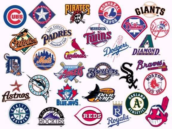 Baseball logos and names