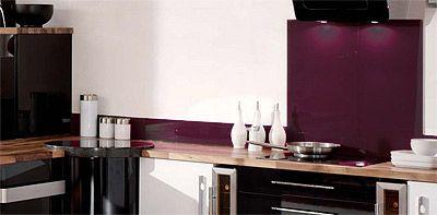 Modern Kitchen Splashbacks aubergine kitchen splashback | la cucina immaginaria | pinterest