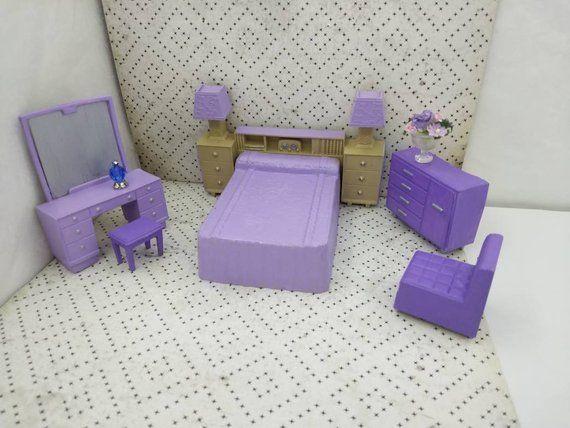 Best Bedroom In Purple And Beige Bed Headboard Vanity Stool And 400 x 300