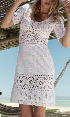 Vestido Crochê Saídas Praiavestidossaiasshorts