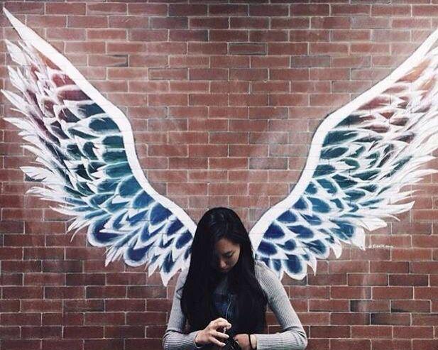 Resultado de imagen para wings mural alas pinterest for Angel wall mural