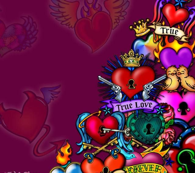 You Got To Give It To The Hearts Heart Iphone Wallpaper Ed Hardy Designs Skull Pictures